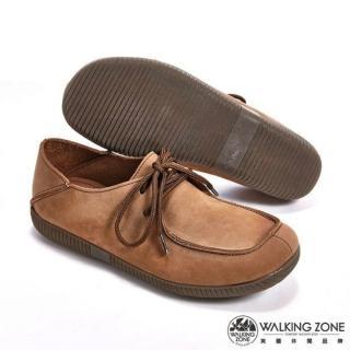 【WALKING ZONE】可踩式雙穿休閒女鞋(棕)