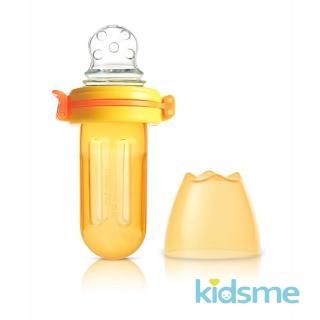 【kidsme】咬咬樂輔食器-擠壓式-圓孔