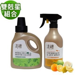 【Hinoki Life 清檜】雙剋星組合(天然防蟑螂螞蟻噴劑+抗菌驅蟲萬用清潔劑)