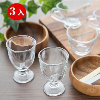 【ADERIA】日本手仿陶高腳烈酒杯3入組(75ml)