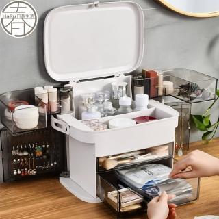 多功能飾品開門收納箱(收納盒 彩妝箱 化妝箱 化妝品收納)