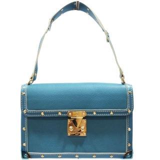 【Louis Vuitton 路易威登】M92848 限量suhali Emerble山羊皮鉚釘藍色肩背包(藍色-限量絕版品)