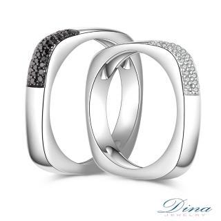 【DINA 蒂娜珠寶】雙鑽誓言 鑽石結婚對戒(情人鑽石對戒 系列)