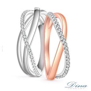 【DINA 蒂娜珠寶】流星雨 鑽石結婚對戒(情人鑽石對戒 系列)