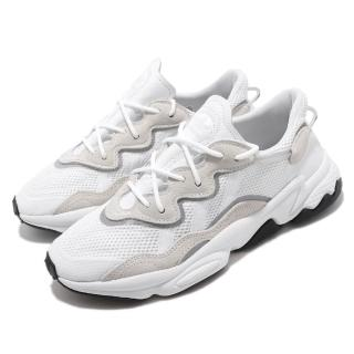 【adidas 愛迪達】休閒鞋 Ozweego 經典 襪套 男鞋 愛迪達 復古 反光 老爹鞋 潮流 穿搭 白 灰(EE6464)