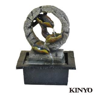 【KINYO】碧葉連蓮-流水飾品系列(GAR-6362)