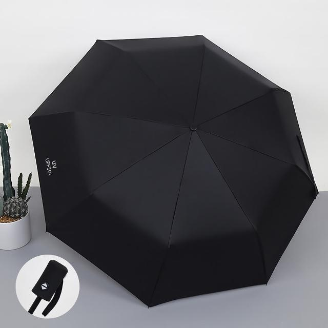 超防曬 輕量自動傘 UPF50+男女適用 8骨防風大傘面 體感降溫 抗UV黑膠晴雨傘摺疊傘陽傘折疊傘
