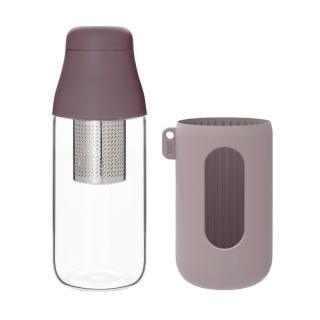 【TOAST】SCENE 隨身玻璃茶瓶 500ml_紫