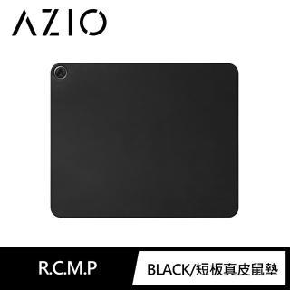 【AZIO】AZIO RETRO CLASSIC 義大利手工牛皮滑鼠墊 方形 黑色(鍵盤鼠墊)