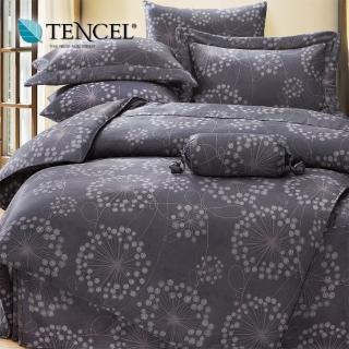 【貝兒居家寢飾生活館】100%天絲四件式全鋪棉兩用被床包組 帕洛馬(特大)