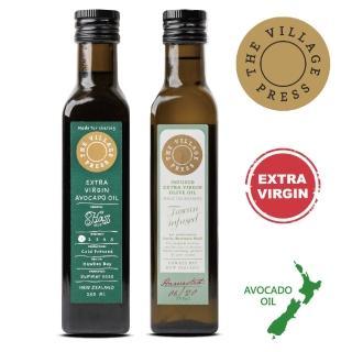 【壽滿趣- 紐西蘭廚神系列】頂級冷壓初榨黃金酪梨油+義式香蒜風味橄欖油(250mlx2)