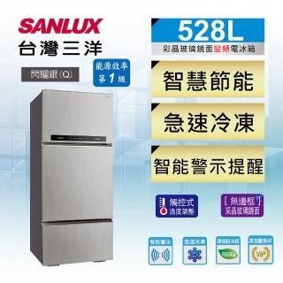 【SANLUX 台灣三洋】◆528公升一級能效變頻三門冰箱(SR-C528CV1A)