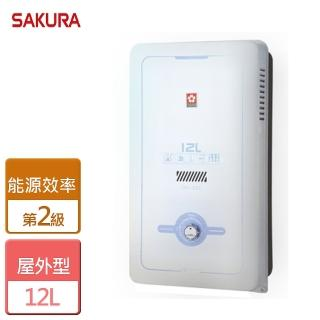 【SAKURA 櫻花】12L屋外型熱水器(GH-1235)