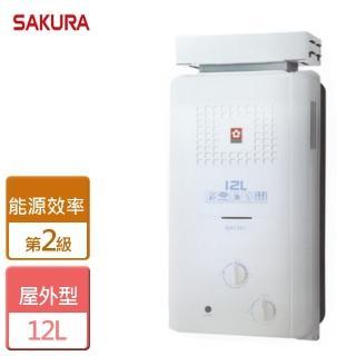 【SAKURA 櫻花】12L屋外抗風型熱水器(GH-1221)