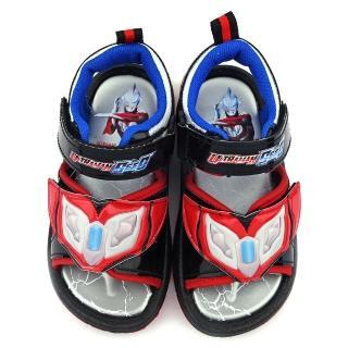 【童鞋城堡】超人力霸王 中大童 盾甲設計涼鞋(UM4600-黑)