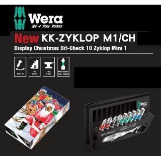 【Wera】德國Wera頂級10件複合式棘輪扳手1/4-聖誕限量款(KK-ZYKLOP M1/CH)