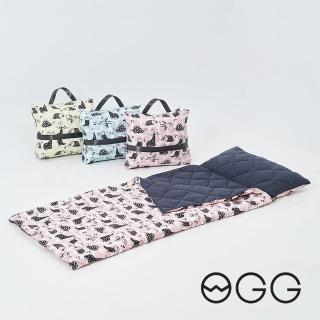 【OGG】搖滾恐龍輕巧防蹣抗菌兒童睡袋(幼兒園午休睡袋、露營防撥水睡袋)