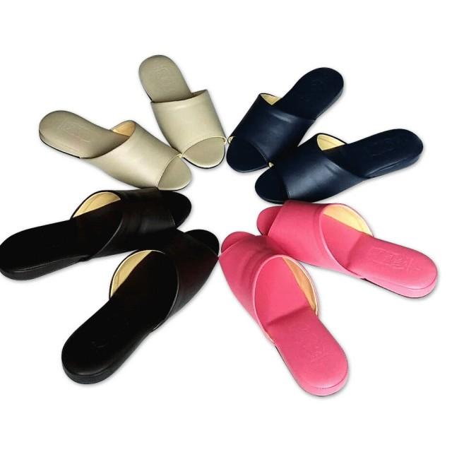 e鞋院日式可水洗氣墊厚底室內皮拖鞋-6雙入(室內拖鞋)/