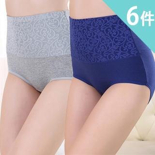 【莎邦婗】大尺碼高腰棉質緊緻修飾褲(超值6件組 1049)