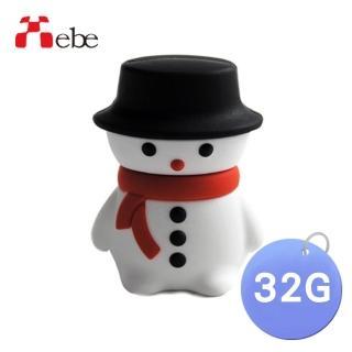 【Xebe集比】聖誕雪人造型隨身碟32G(造型USB送禮學生必備)