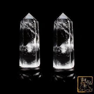 【吉祥水晶】白水晶柱一對 100-200g(化樑煞 淨化磁場)