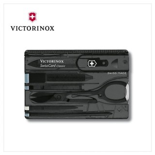 【VICTORINOX 瑞士維氏】SwissCard Classic 瑞士卡/ 透黑(0.7133.T3)
