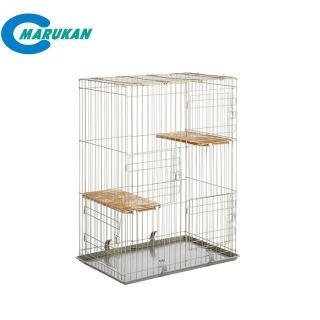 【Marukan】雙層貓籠〈三開門式〉(CT-200)
