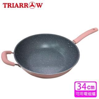 【三箭牌】大理石不沾深型炒鍋MIY-134(34cm)