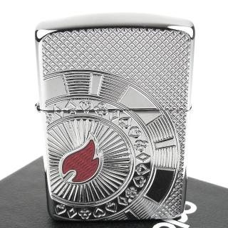【Zippo】美系~Poker Chip-撲克籌碼深刻圖案打火機(ARMOR裝甲)