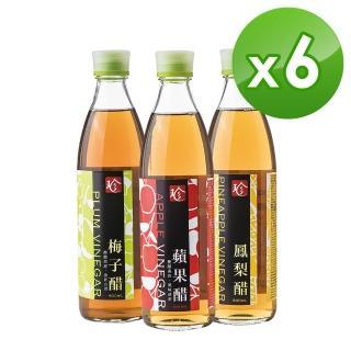 【百家珍】食尚樂活好醋系列6入組(蘋果/梅子/鳳梨)