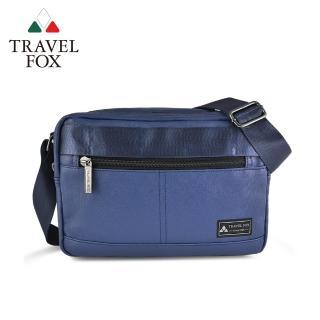 【TRAVEL FOX 旅狐】輕巧雙料防撥水帆布側背包 側背包(TB700-47 藍色)