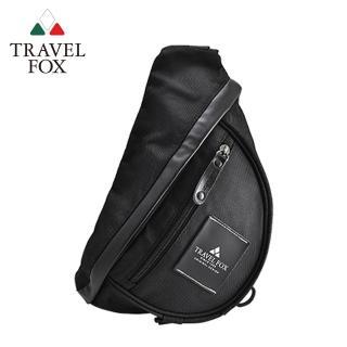 【TRAVEL FOX 旅狐】旅行者單肩防潑水尼龍包(TB568-01 黑色)