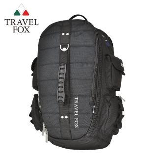 【TRAVEL FOX 旅狐】大容量戶外旅行電腦後背包(TB478-01 黑色)