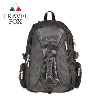 【TRAVEL FOX 旅狐】多功能旅行大容量電腦後背包 筆電包(TB507-01 黑色)