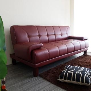 【BN-Home】Sato佐藤經典皮藝日式沙發床(沙發床/雙人沙發/皮沙發)