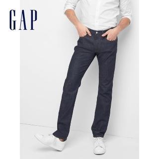 【GAP】男裝 基本款百搭修身中腰休閒牛仔褲(180217-水洗藏藍)