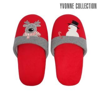 【Yvonne Collection】馴鹿胖胖拖鞋(紅)