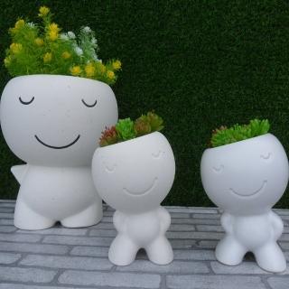 【園藝世界】花器 - 小白人2入