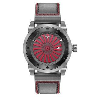 【ZINVO】刀鋒戰士渦輪機械腕錶-灰X紅(BBOLD)