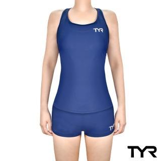 【TYR】Racerback Boyshorts 兩件式四角泳裝 藍色