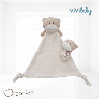 【Oragnic】有機棉小熊手帶鈴與安撫巾組