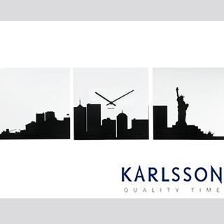 【歐洲名牌時鐘】荷蘭 KARLSSON-紐約壁鐘《歐型精品館》(簡約時尚造型/掛鐘/壁鐘/吊掛鐘)