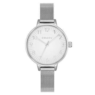 【OBAKU】禪風美學時尚腕錶-銀(V237LXCIMC)
