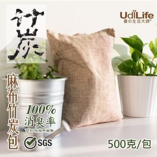 【UdiLife】大空間-麻布竹炭包500g x 3入組(平衡濕氣 消除異味)