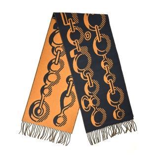 【Hermes 愛馬仕】Hermes parures de samourais shawl武士頭盔羊絨真絲披肩(紫色)