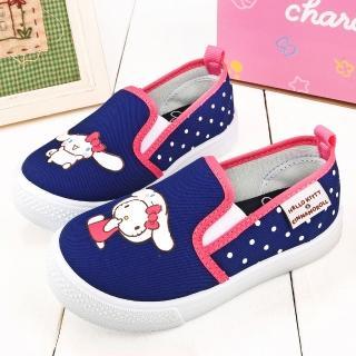 【童鞋城堡】素面質感室內外休閒鞋 Kitty X 布丁狗(KT7196-藍)