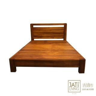 【吉迪市柚木家具】全柚木密板床架組