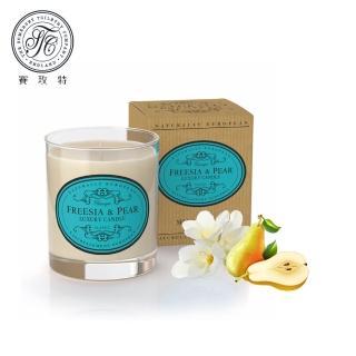 【Somerset 賽玫特】英國自然歐洲植物蠟香氛蠟燭200g-英國梨與小蒼蘭
