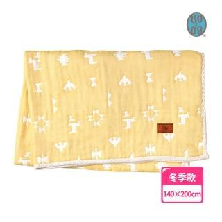 【BOBO】印第安圖騰羊毛六層紗被(XL)