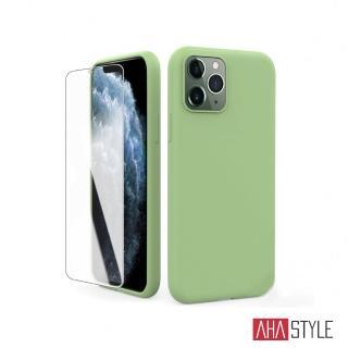 【AHAStyle】iPhone 11 Pro Max 液態矽膠保護殼(含 玻璃保護貼)